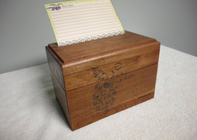 Solid Cherry Recipe Box