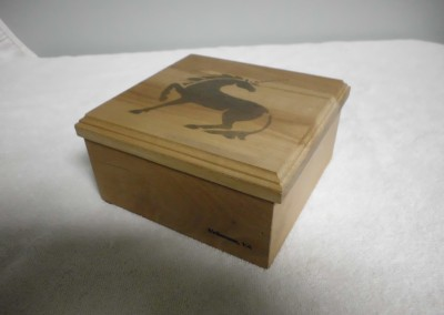 "Solid Maple ""Unicorn"" Trinket Box"