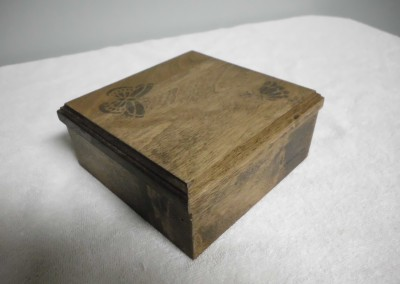 "Solid Maple ""Butterflies"" Trinket Box"