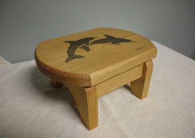 "Solid Pine ""Dolphin"" Step Stool"