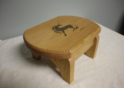 "Solid Pine ""Unicorn Step Stool"