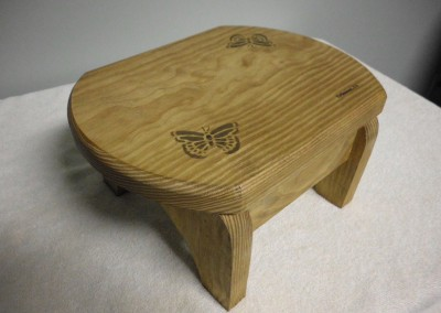 "Solid Pine ""Butterflies"" Step Stool"