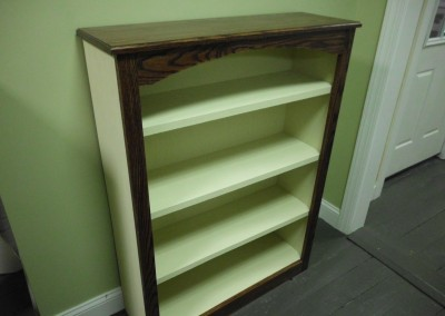 Solid Pine w/Oak Top &Trim Book Case