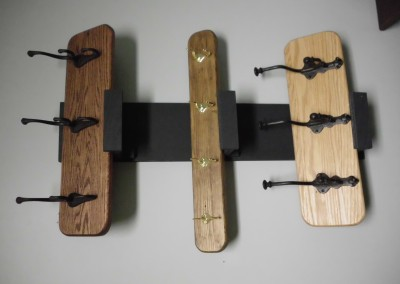 Top – Solid Oak Coat Rack</br>Center – Solid Pine Coat Rack</br>Bottom – Solid Oak Coat Rack