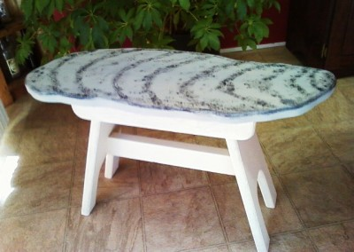 Painted Oyster Bench